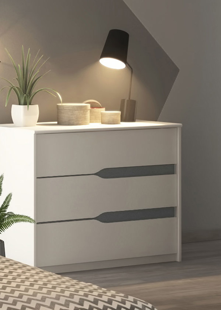 Commode paz blanc gris anthracite - Commode gris anthracite ...