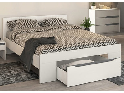 lit sumatra vintage marron l 167 x h 83 x p 215. Black Bedroom Furniture Sets. Home Design Ideas