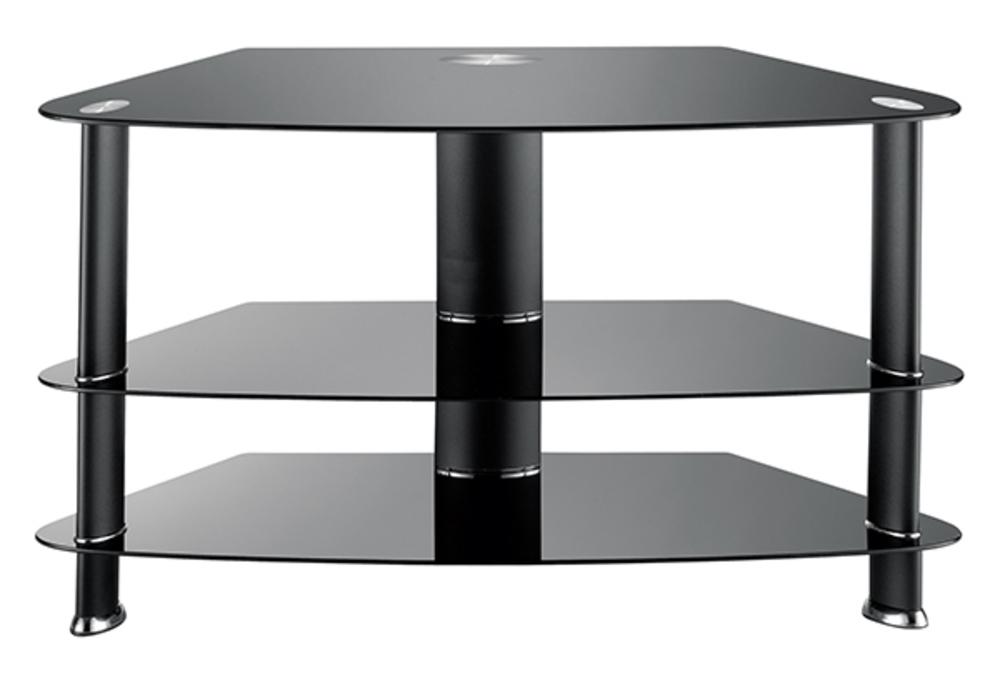 Meuble tv jorne noir for Meuble hifi 110