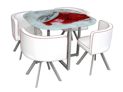 Table+4 chaises Blush