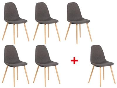 Lot de 5 chaises + 1 offerte Kapri