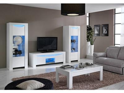 Meuble tv Onda laquée blanc brillant