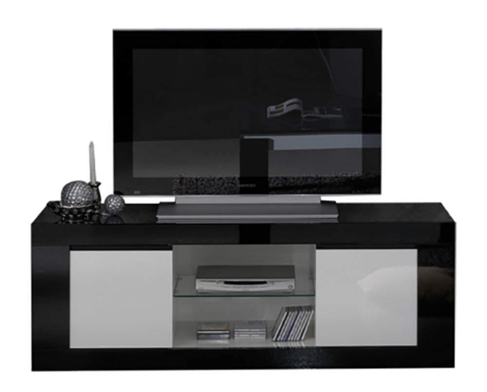 Meuble Tv Polaris Noir Blanc # Kreabel Meuble Tv