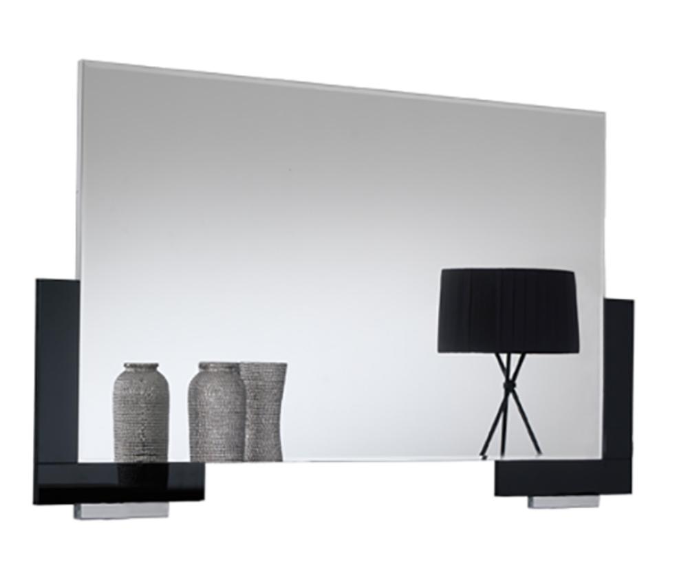 Miroir polaris noir for Miroir sejour