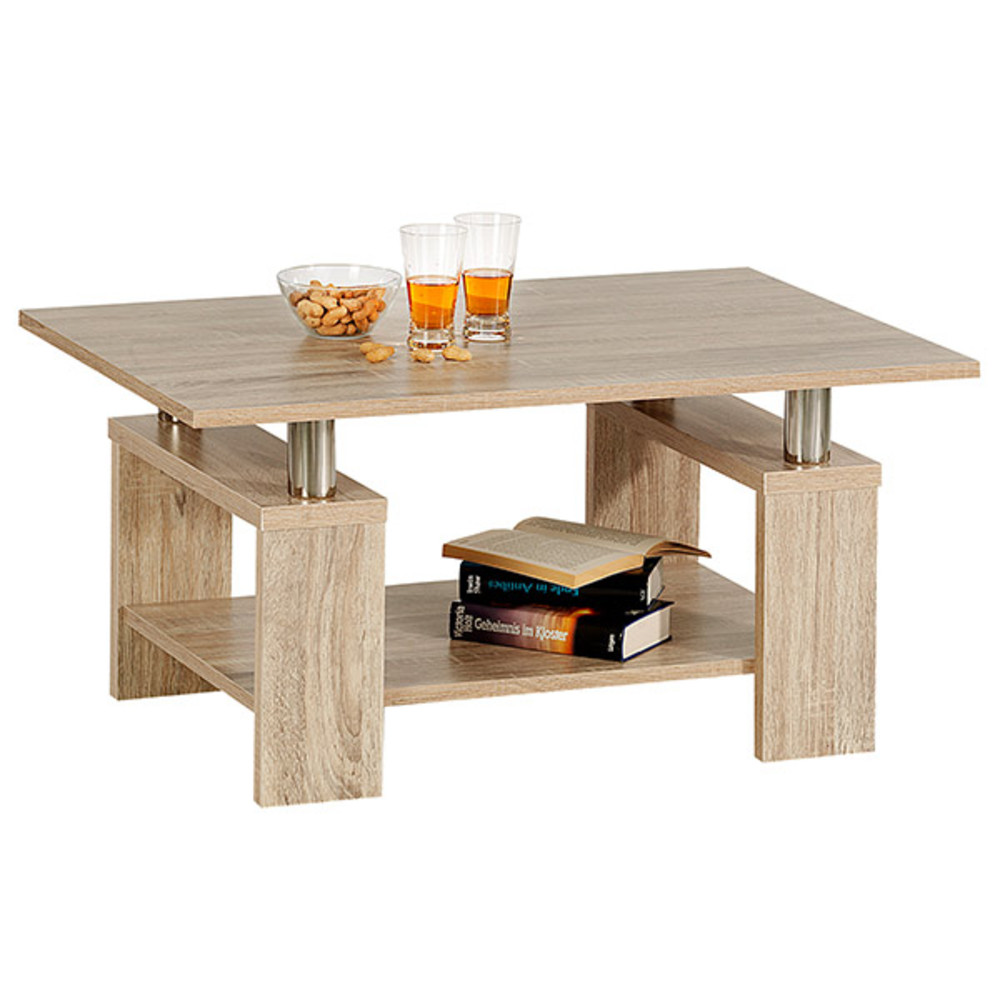 Table basse percy chene sonoma for Couchtisch 60x80