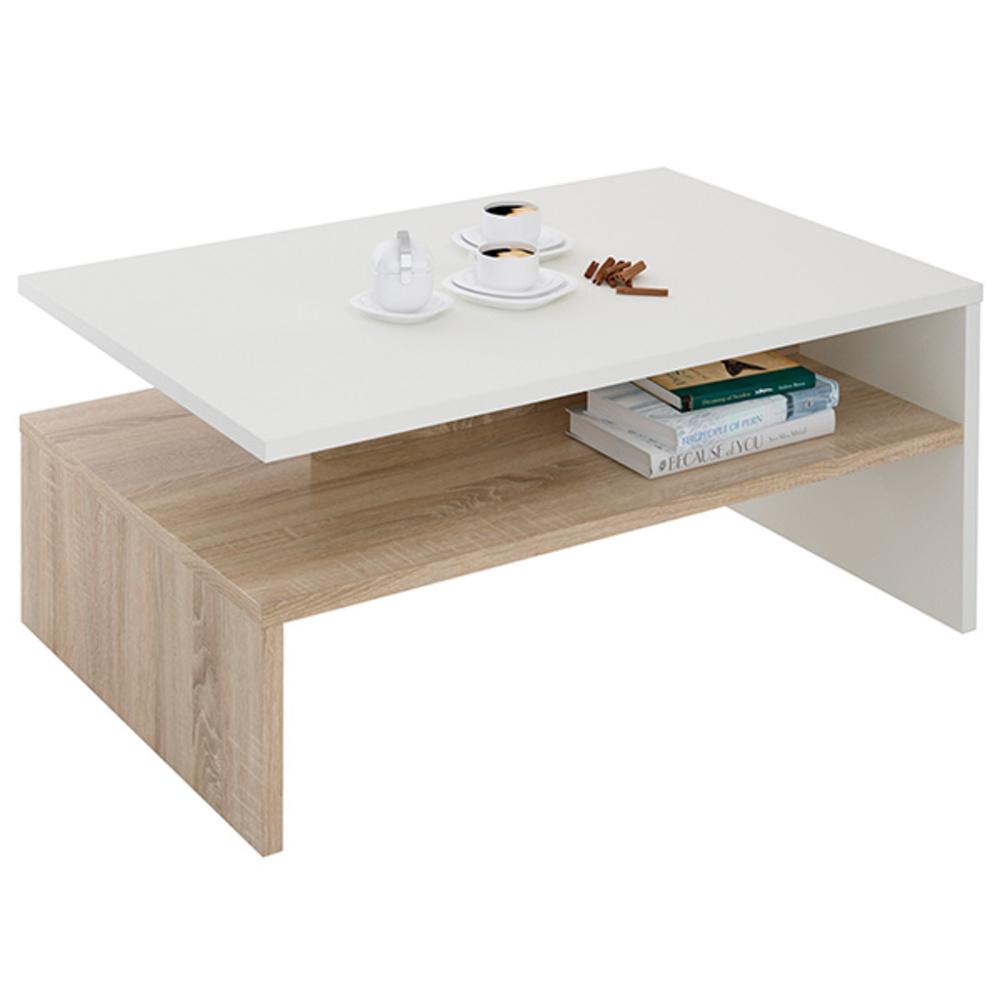 table basse adelaide blanc chene. Black Bedroom Furniture Sets. Home Design Ideas
