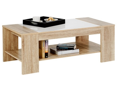 table basse novo chene blanc brillant. Black Bedroom Furniture Sets. Home Design Ideas