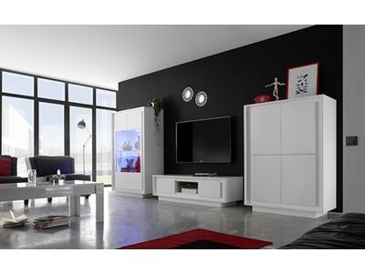 Bahut 4 portes Prato blanc mat