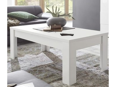Table basse Prato blanc mat