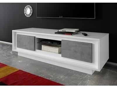 Meuble tv Sky blanc mat/beton