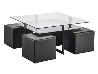 Table basse + 4 poufs Solo