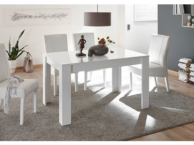 Table de repas Basic blanc/ anthracite brillant
