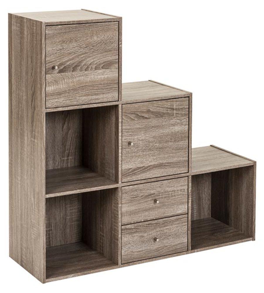 etag re 7 cases optima chene gris. Black Bedroom Furniture Sets. Home Design Ideas