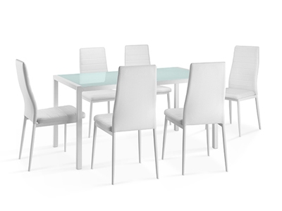 Table + 6 chaises Ana 16