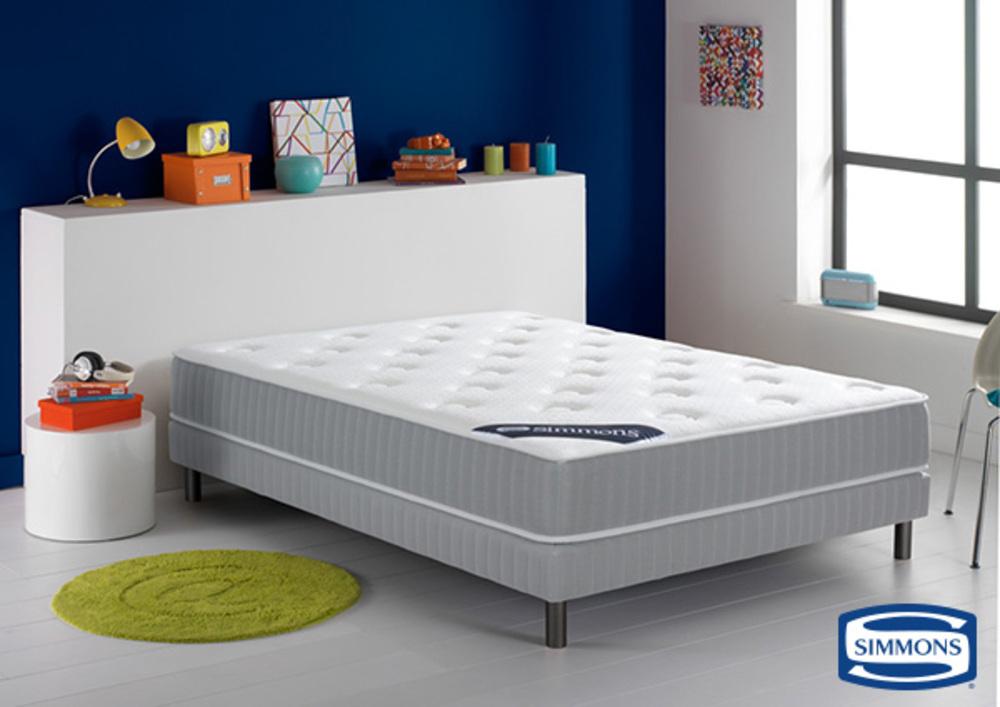 matelas simmons ressorts ensach s merida l 160 x h 29 x p 200. Black Bedroom Furniture Sets. Home Design Ideas