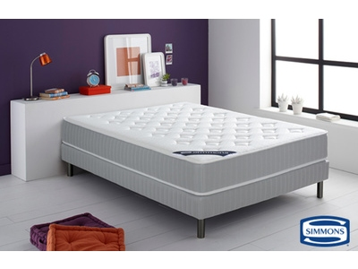 matelas simmons ressorts ensach s et latex leone l 140 x h 24 x p 190. Black Bedroom Furniture Sets. Home Design Ideas