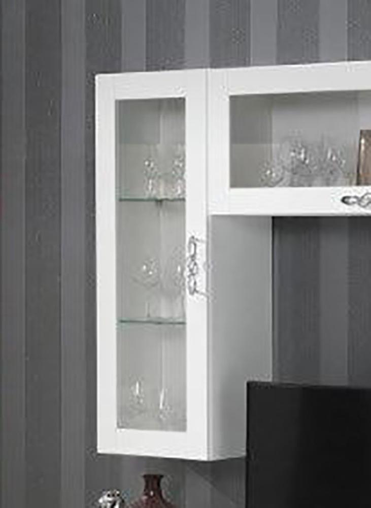 Element mural vitr athena blanc brillant for Meuble mural vitre