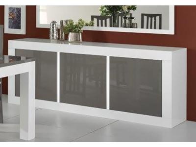 Bahut 3 portes Neos blanc/gris
