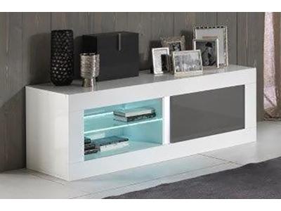 Meuble tv plasma Neos blanc/gris