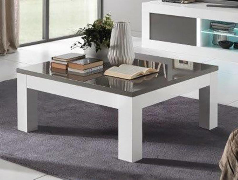 table basse neos blanc gris blanc blanc gris l 100 x h 43 x p 100. Black Bedroom Furniture Sets. Home Design Ideas