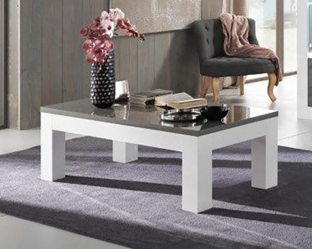 table basse neos blanc gris blanc blanc gris l 127 x h 43 x p 66. Black Bedroom Furniture Sets. Home Design Ideas