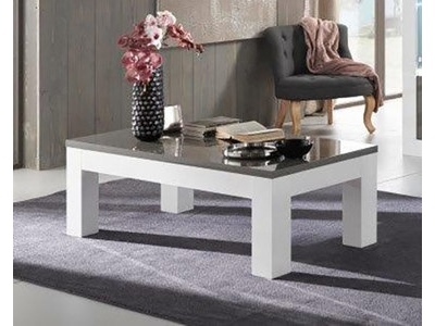 Table basse Neos blanc/gris