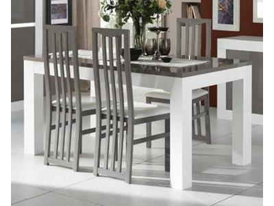 Table de repas Neos blanc/gris