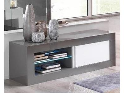 Meuble tv plasma Neos gris/blanc