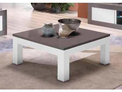 Table basse Neos gris/blanc