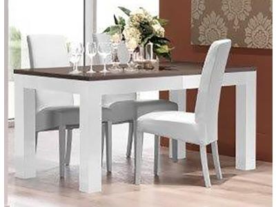 Table de repas Neos gris/blanc