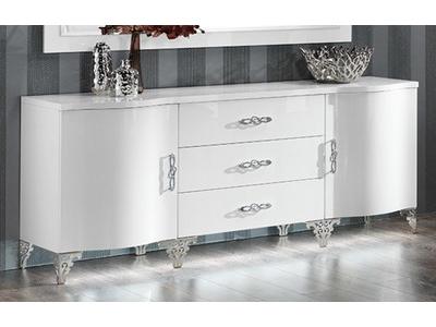Bahut 2 portes 3 tiroirs Athena cromo
