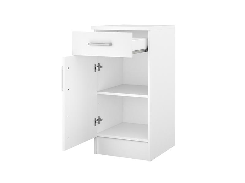 element bas 1 porte 1 tiroir ludovica blanc. Black Bedroom Furniture Sets. Home Design Ideas