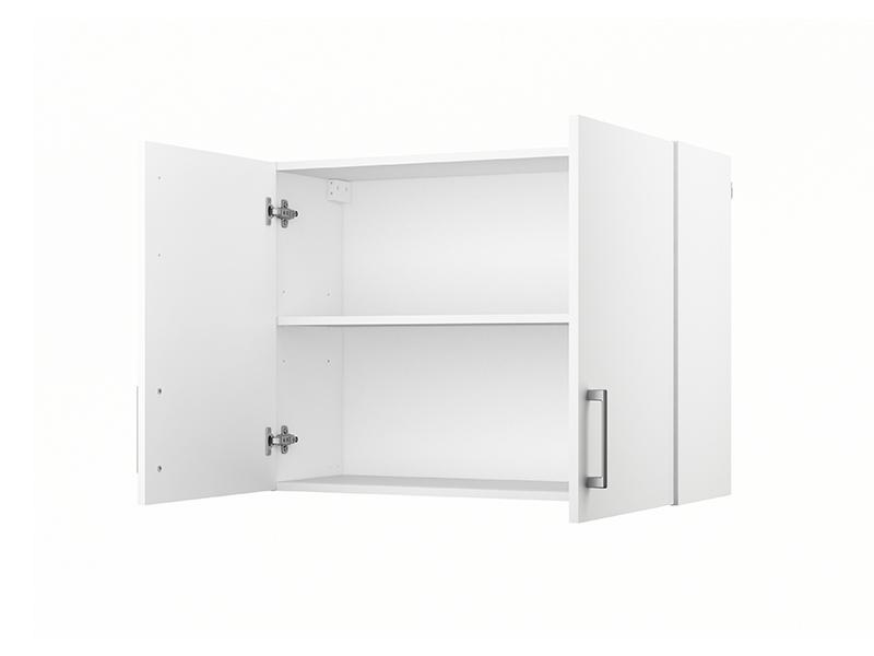 Element haut 2 portes ludovica blanc for Element de cuisine haut
