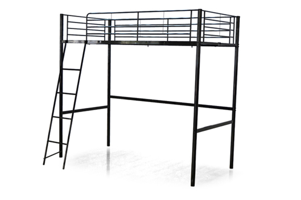 lit mezzanine planet 140 noir. Black Bedroom Furniture Sets. Home Design Ideas