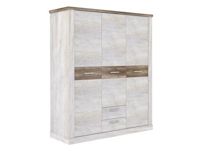 Armoire 3 portes 2 tiroirs Duro chambre à coucher