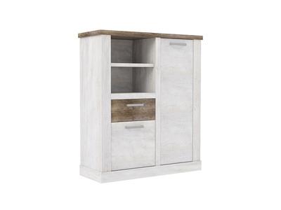 Meuble de rangement 2 portes 1 tiroir 2 niches Duro salle à manger