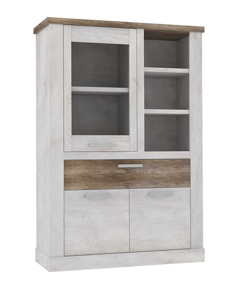 vitrine duro salle manger pin blanc chene antique. Black Bedroom Furniture Sets. Home Design Ideas