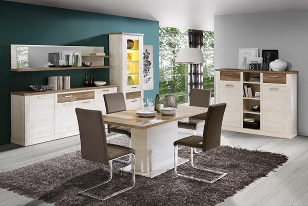 meuble tv duro salle manger pin blanc chene antique. Black Bedroom Furniture Sets. Home Design Ideas