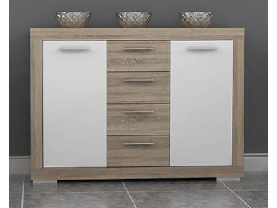 Bahut 2 portes 4 tiroirs