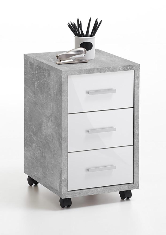 caisson diego 2 b ton blanc brillant. Black Bedroom Furniture Sets. Home Design Ideas