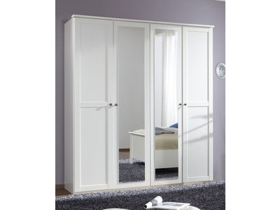 Armoire 4 portes Chalet blanc