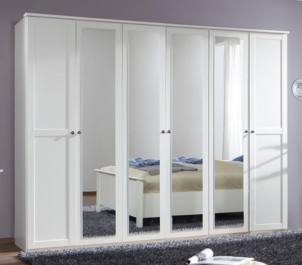 armoire 6 portes chalet blanc. Black Bedroom Furniture Sets. Home Design Ideas