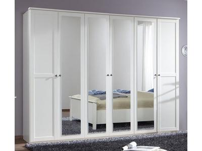 Armoire 6 portes Chalet blanc