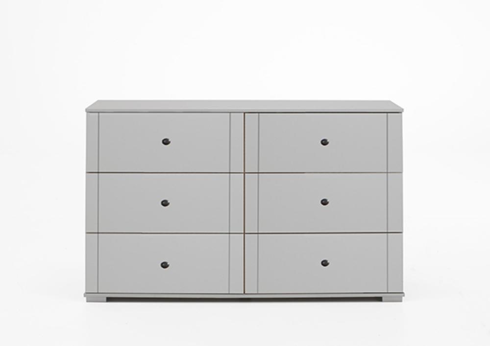 Commode 6 tiroirs chalet blanc for Meuble qui a plusieurs tiroirs
