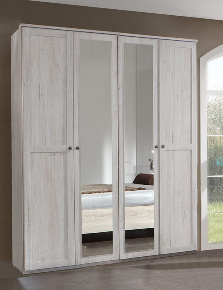 armoire 4 portes chalet chene blanc. Black Bedroom Furniture Sets. Home Design Ideas