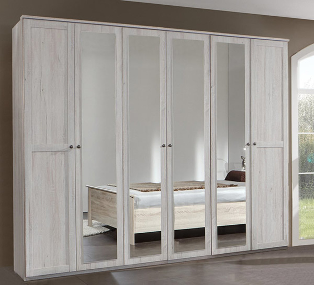 armoire 6 portes chalet chene blanc. Black Bedroom Furniture Sets. Home Design Ideas