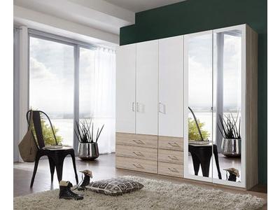 Armoire 5 portes dont 2 miroirs