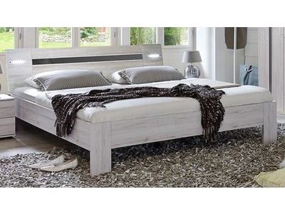 chambre coucher design coloris ch ne blanc et gris brillant nizza. Black Bedroom Furniture Sets. Home Design Ideas
