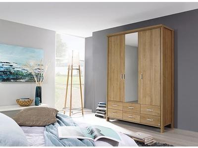 Armoire 3 portes 6 tiroirs