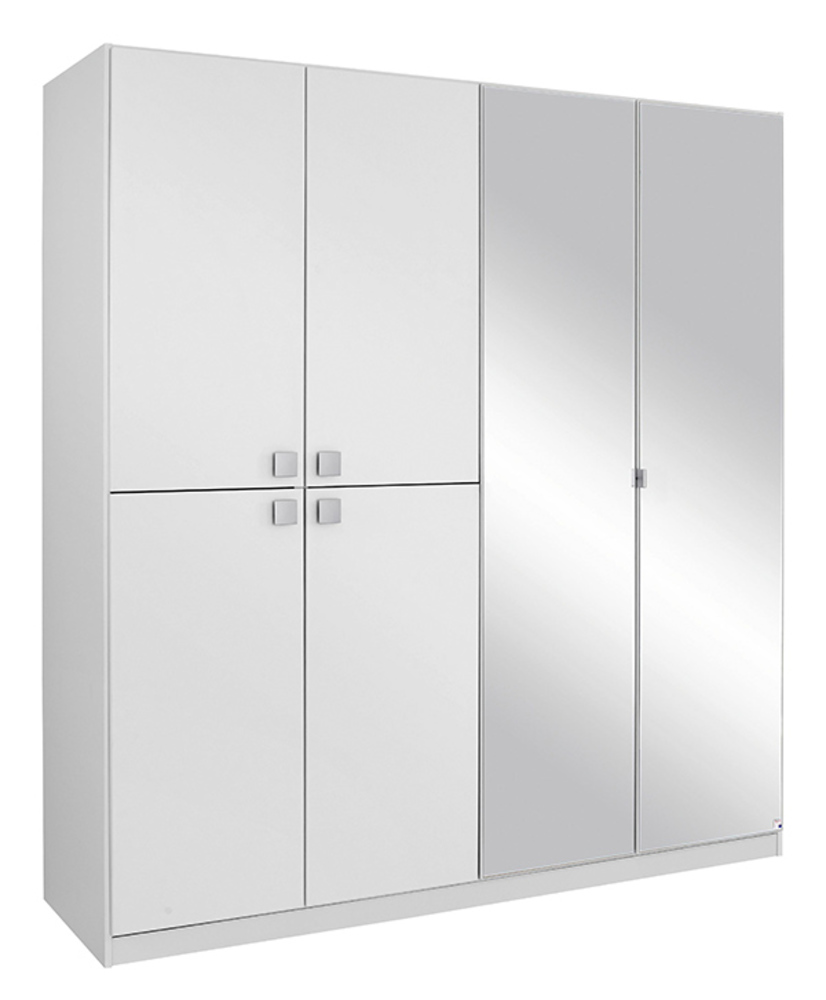 armoire 6 portes caria blanc. Black Bedroom Furniture Sets. Home Design Ideas